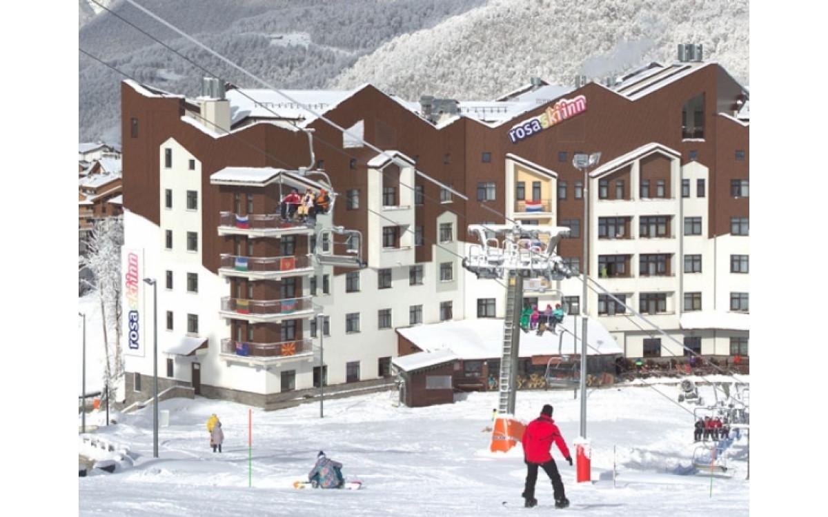 Пункт проката Роза Хутор в отеле Rosa Ski Inn.