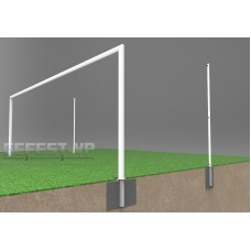 Алюминиевые в стаканах футбольные ворота