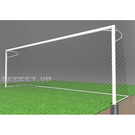 Ворота для футбола: алюминиевые, в стаканах. АС-7102.