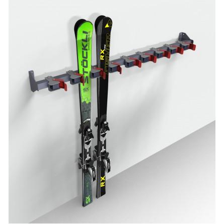 """Вешалка """"ClipS"""" для горных лыж, пристенная."""