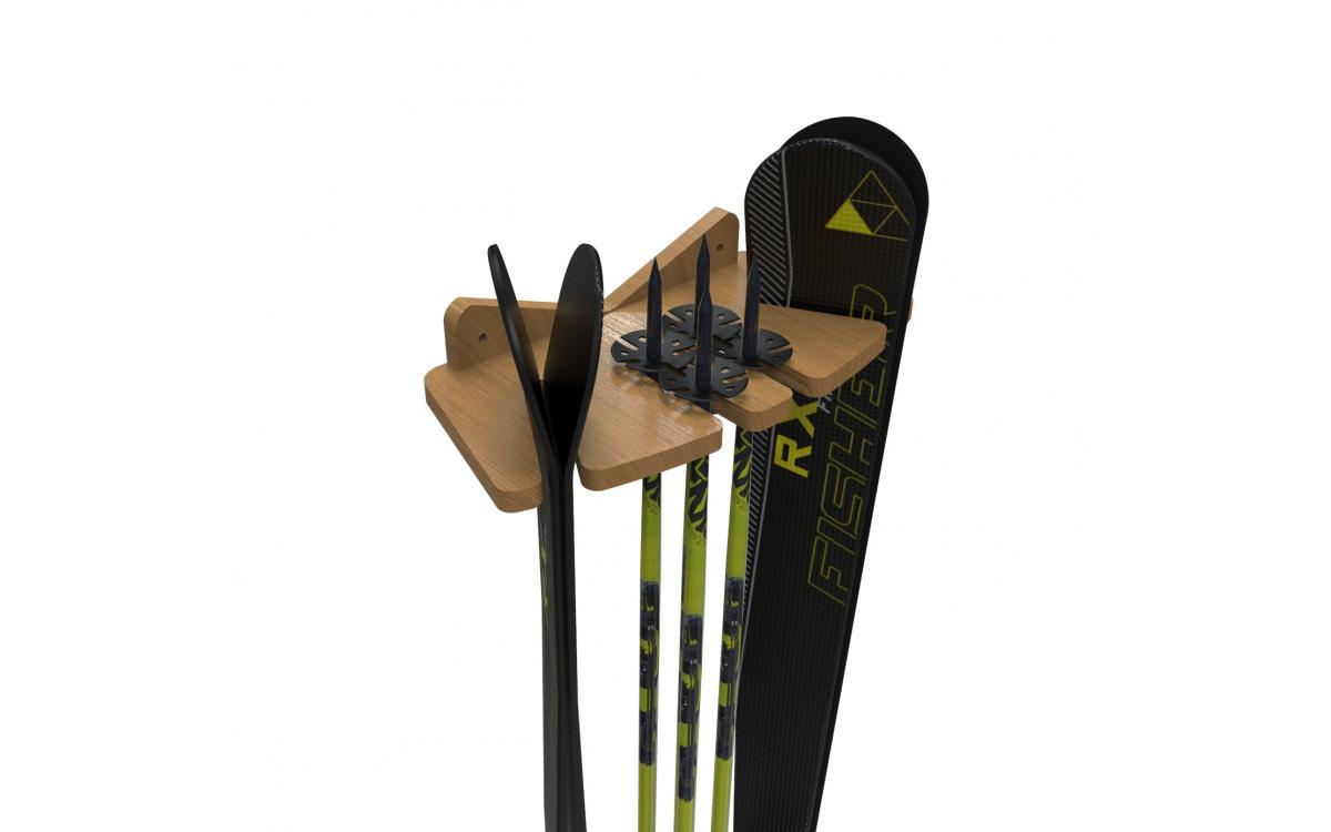 Новый фанерный держатель для горных лыж.