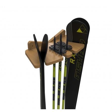 Настенная вешалка F-2 для горных лыж и лыжных палок.