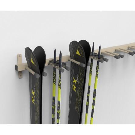 Вешалка «Эконом» для горных лыж, пристенная.