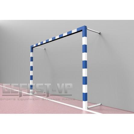 Ворота для мини-футбола, гандбола: стальные, пристенные.