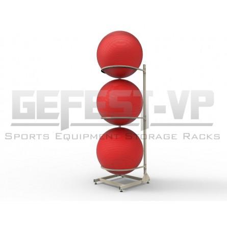 Стойка для хранения фитнес мячей