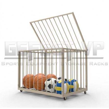 Корзина для хранения мячей прутья