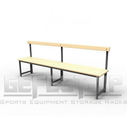 Скамейка для раздевалок со спинкой