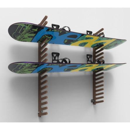 Вешалка «Эконом» SE-7/18 для сноубордов и вейкбордов, пристенная.