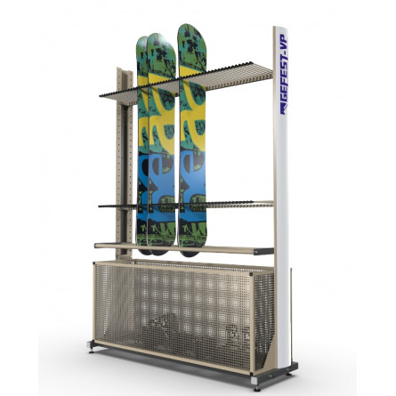 Стеллаж «Премиум» СП-1 для сноубордов, односторонний.