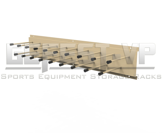 Стойка, вешалка для хранения лыжных палок Эконом с креплением к стене.