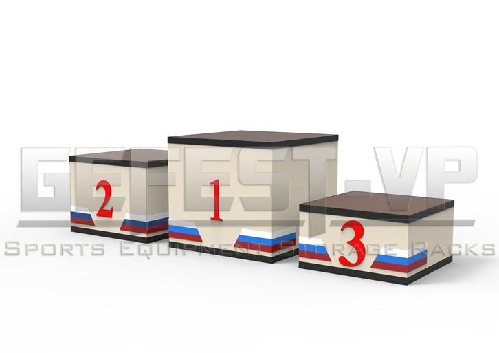 Пьедестал почета для награждения спортсменов квадратный ПС-11