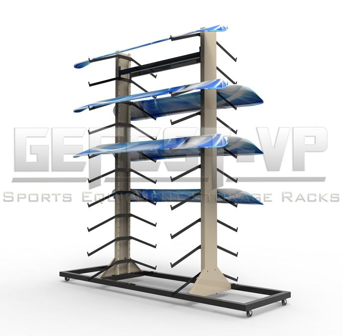 Стойка, стеллаж для хранения сноубордов Стандарт двухсторонний.