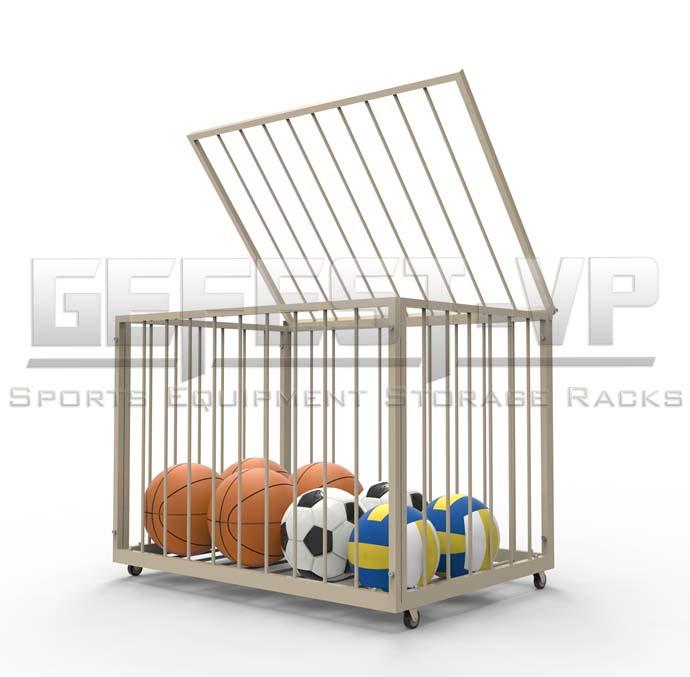 Корзина для хранения мячей передвижная