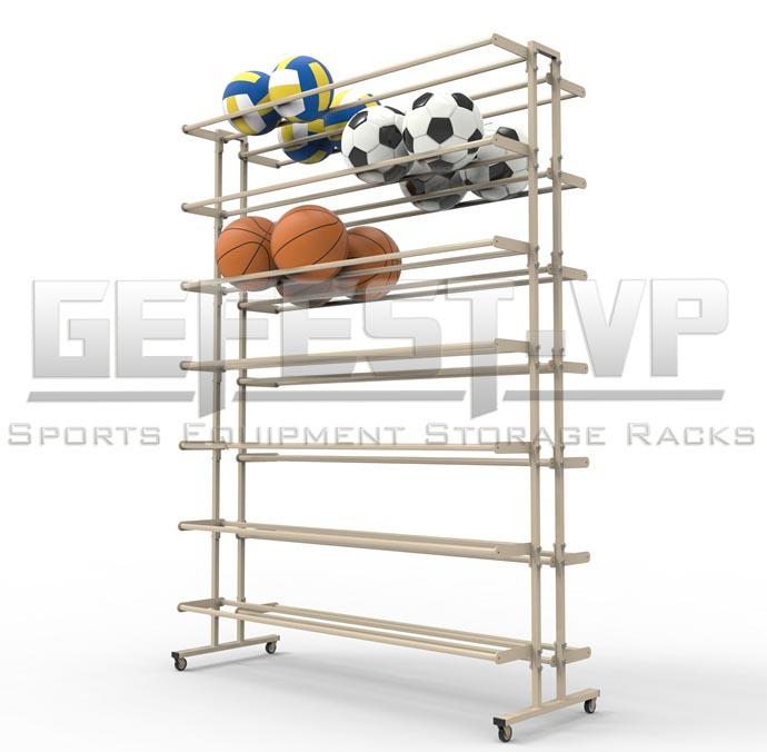 Стойка, стеллаж для хранения мячей Стандарт двухсторонний, мобильный.